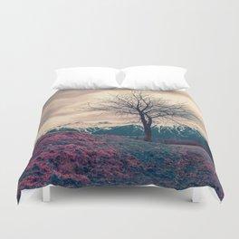 Japanese Mountains Duvet Cover