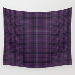 Purple buffalo plaid Wall Tapestry