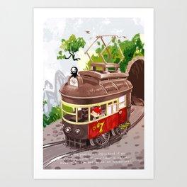 Travel By Trolly Art Print