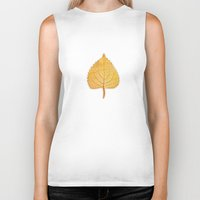 lonely Biker Tanks featuring Lonely Leaf by Klara Acel