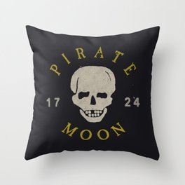 Pirate Moon Throw Pillow