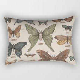 Butterflies and Moth Specimens Rectangular Pillow