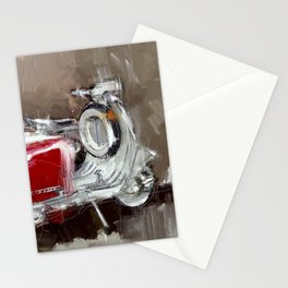 Red Lambretta Stationery Cards