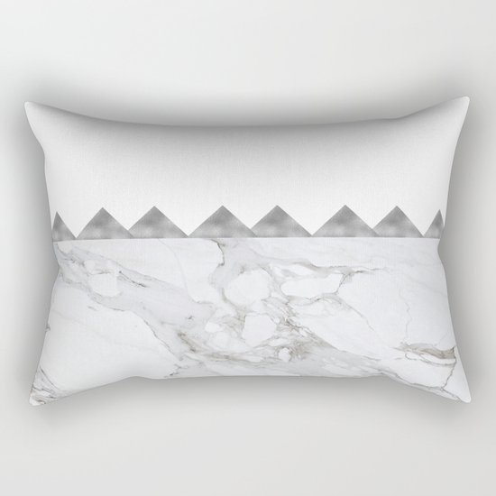 Grey Rectangular Decorative Pillows : Adoring Grey Rectangular Pillow by Cadinera Society6