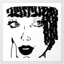 Thoughts of You...(Black&White) Art Print