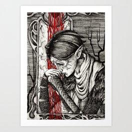 Questioning beliefs Art Print
