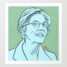 Elizabeth Warren Art Print