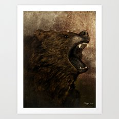 The Grizzly Art Print