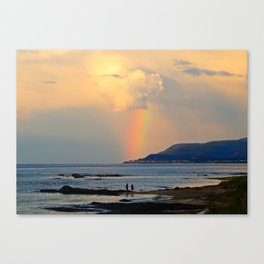 Adventure under the Rainbow Canvas Print