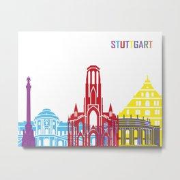 Stuttgart skyline pop Metal Print