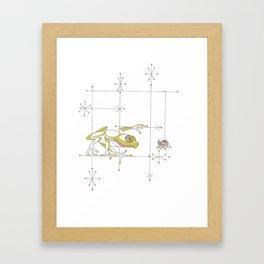 Whimsical Frog & Spider Framed Art Print