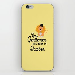 Real Gentlemen are born in October T-Shirt Dlbpz iPhone Skin