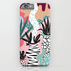 Pattern with plants Slim Case iPhone 6s