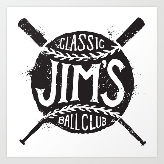 Classic Jim's Ball Club - Tshirt Art Print
