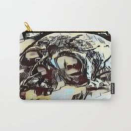 Metal Paper Skull Carry-All Pouch