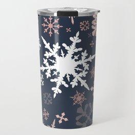 Beautiful Christmas pattern design with snowflakes Travel Mug