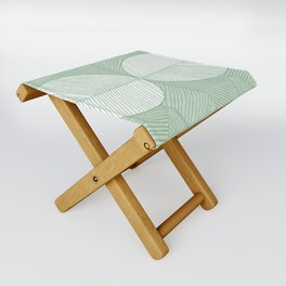 Minimal Tropical Leaves Pastel Green Folding Stool