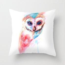 Watercolour Barn Owl Throw Pillow