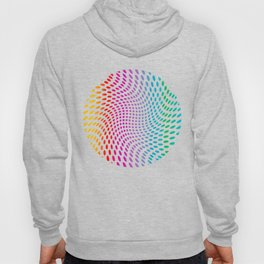 Approaching and receding shapes in CMYK - Optical game 17 Hoody