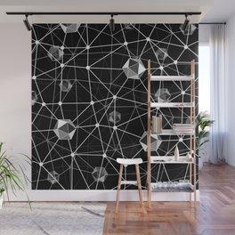 Black and White Geometric Shape Constellation Dream Wall Mural
