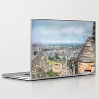 edinburgh Laptop & iPad Skins featuring Edinburgh Castle by Christine Workman