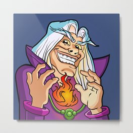 old Wizard casting a spell Metal Print