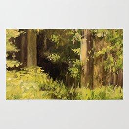 Woodland Landscape Nature Art Rug