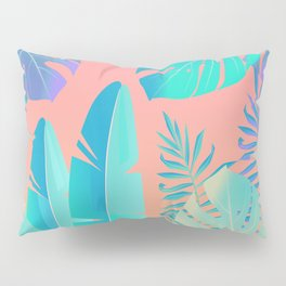 Tropics ( monstera and banana leaf pattern ) Pillow Sham