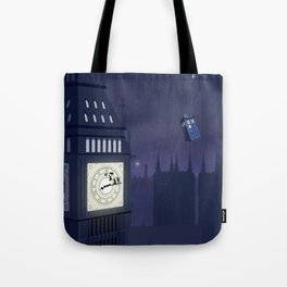 Second Star to the Right, Straight on to Gallifrey Tote Bag