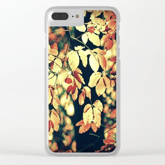 Autumnally Clear iPhone Case
