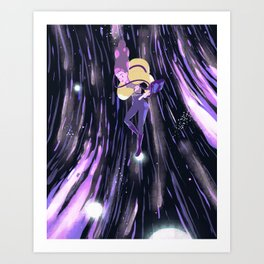 Earth in space Art Print