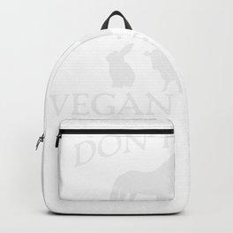 I don't eat my Friends Vegan T-shirt Backpack