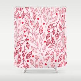 pink foliage Shower Curtain