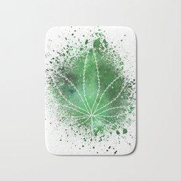 Pot Leaf Space Dust Bath Mat