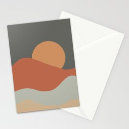 Sunrise - Earth Tones Stationery Cards