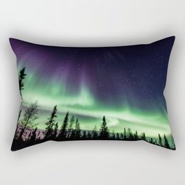 Aurora during geomagnetic storm in Yellowknife, Canada Rectangular Pillow