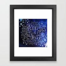 Rattle The Stars - Blue Framed Art Print