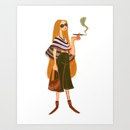 Hip Chick Art Print