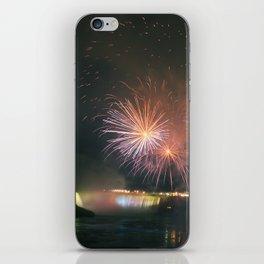 Fireworks over Falls iPhone Skin