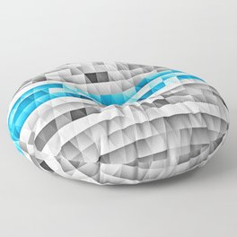 Blue Stripe Geometric Pattern Floor Pillow