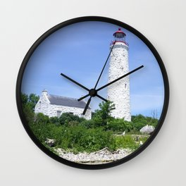 Chantry Island Light Wall Clock