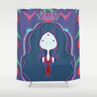 rush Shower Curtains featuring Blood Rush by xoxolovefranklin
