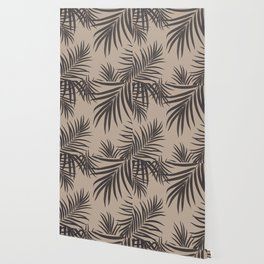Palm Leaves Pattern Sepia Vibes #1 #tropical #decor #art #society6 Wallpaper