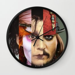 Faces Johnny Depp Wall Clock