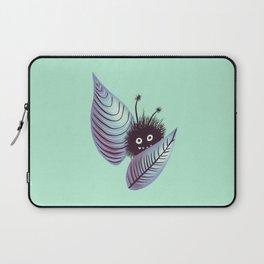 Cute Hairy Monster In Leaves Digital Art Laptop Sleeve