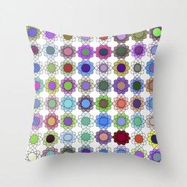 Pop art flowers procedurally generated Throw Pillow