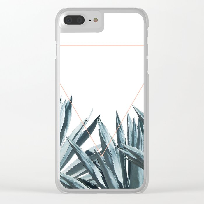Agave Triangle Clear iPhone Case