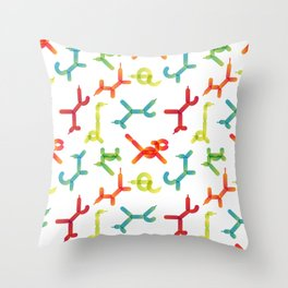 Balloon animals pattern #3 Throw Pillow