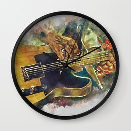 Keith Richards's electric guitar Wall Clock