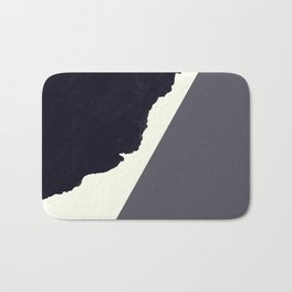 Contemporary Minimalistic Black and White Art Bath Mat